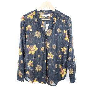 NWT LOFT Sheer Floral Blouse - MP